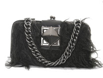 Elegant small fur bag
