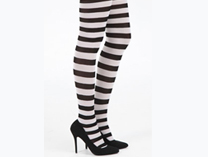 Striped Tights - Black/White