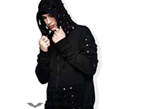 Black Hooded Jacket with Unique Design