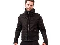 Biker Jacket with Big Collar