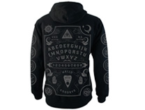 Grey Ouija Board Fleece Zip Hood