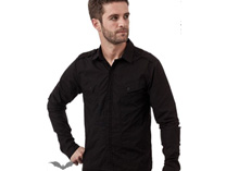 Black Button-Down Shirt