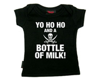 Baby T-shirt - Yo Ho Ho and a Bottle of Milk