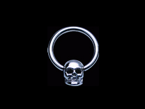 Ball Closure Ring with steel cast skull attachment
